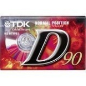 TDK D90 Audio Cassette Tape Type I -SET OF 2