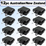 Generic 12-NZ American/European to Australian/New Zealand Outlet Plug Adapter, 12 Pack