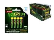Alkaline AAA 4 pack Go Green Batteries (16pk x 4pcs) 64pc Lot