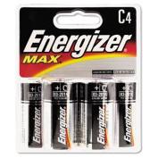 Energizer : Alkaline Batteries, C, 4 Batteries per Pack -:- Sold as 1 PK