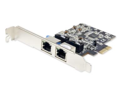 Syba Dual Port Gigabit Ethernet Network PCI-express x1 Controller Card SY-PEX24028