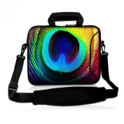 Peacock Feathers 25cm 25cm 26cm inch Laptop Netbook Tablet Shoulder Case Carrying Sleeve bag For Apple iPad/Asus EeePC/Acer Aspire one/Dell inspiron mini/ for Samsung N145/Lenovo S205 S10/HP Touchpad Mini 210