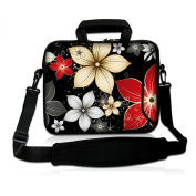 Coloured Flowers 25cm 25cm 26cm inch Laptop Netbook Tablet Shoulder Case Carrying Sleeve bag For Apple iPad/Asus EeePC/Acer Aspire one/Dell inspiron mini/ for Samsung N145/Lenovo S205 S10/HP Touchpad Mini 210