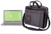 "DURAGADGET ""Travel"" Deluxe Lightweight 40cm Laptop Case / Messenger Bag With Padded Shoulder Strap & Carrying Handle For ASUS X55VD-SX046H Ordinateur Portable, Acer Aspire V3-571G"
