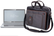 """DURAGADGET """"Travel"""" Deluxe Lightweight 40cm Laptop Case / Messenger Bag With Padded Shoulder Strap & Carrying Handle For Fujitsu LIFEBOOK AH532, Packard Bell EasyNote TE, Sony VAIO SVE1511F1EW.CEK"""