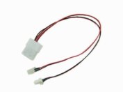 4 Pin Molex to 2 x 3 Pin Male Computer Case Fan Power Connector Y-Splitter Adapter Cable