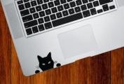"Black Cat ""Soon"" - Trackpad / Keyboard - Vinyl Decal"