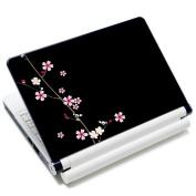Meffort Inc 17 44cm Laptop Skin Sticker Cover Art Decal Fits 41cm 43cm 46cm 48cm Notebook PC (Free Wrist Pad) - Plum Blossoms Design