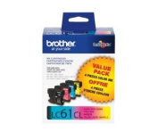 for Brother LC61 Black/Cyan/Magenta/Yellow 4-Pack Ink Cartridges