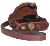 "MegaGear ""Ever Ready"" Protective Dark Brown Leather Camera Case , Bag for Sony DSC-RX100M II Cyber-shot Digital Still Camera RX100 II"
