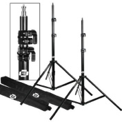LIGHT STANDS PRO HEAVY DUTY 2.1m15cm SET OF TWO, WITH ALL METAL LOCKING COLLARS NOT PLASTIC by PBL