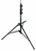 Manfrotto 1004BAC 370cm Air Cushioned Aluminium Master Light Stand with 4 Sections and 3 Risers, 3-Pack