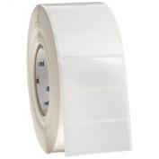 Brady THT-7-422-3 7cm Width x 3.2cm Height, B-422 Permanent Polyester, Gloss Finish White Thermal Transfer Printable Label