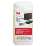 3M Products - 3M - Electronic Equipmet Cleaning Wipes, 5-1/2 x 6-3/4, White, 80/Canister - Sold As 1 Each - Keep your expensive equipment clean and dust-free. - Premoistened, antistatic, nonabrasive wipes are safe to use on electronic equipment and del ..