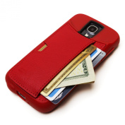 Samsung Galaxy S4 Wallet Case - CM4 Q Card Case for Galaxy S4 - Red Rouge - QS4-RED