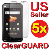 5x ZTE N860 Warp Boost mobile Premium Invisible Clear LCD Screen Protector