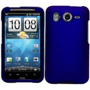 Blue Durable Protective Rubberized Crystal Hard Case Cover for AT & T Wireless HTC Inspire 4G Android Smart Phone