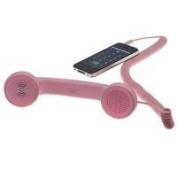 Native Union Moshi Moshi Retro POP Handset for iPhone, iPad, iPod, and Android Phones - Soft Touch - Pink