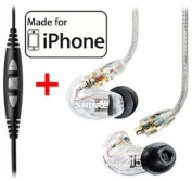 Shure SE215-CL Clear Earphones and CBL-M-+K Music Phone Cable with Remote + Mic for iPone, iPod and iPad.