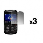 EMPIRE 3 Pack of Reusable LCD Screen Protectors for Blackberry Curve 8520