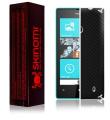 Skinomi TechSkin - Nokia Lumia 520 Screen Protector Ultra Clear Shield + Black Carbon Fibre Full Body Protective Skin + Lifetime Warranty