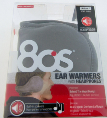 180s Men Urban Soft Shell Ear Warmers with Headphones Grey