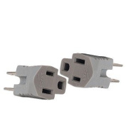 Cooper BP419GY/15 2-Pole 2-Wire Grounding Adapter 2-Pack