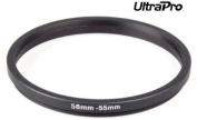 UltraPro Step-Down Adapter Ring 58mm Lens to 55mm filter Size