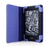 mCover Leather Folio Cover Case with built-in inner pocket for 15cm Amazon Kindle PaperWhite with Built-in Sleep/Wakeup function and FREE High-Quality Stylus - Blue