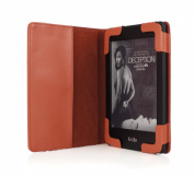 mCover Leather Folio Cover Case with built-in inner pocket for 15cm Amazon Kindle PaperWhite and Kindle Touch, with Built-in Sleep/Wakeup function and FREE High-Quality Stylus - RED