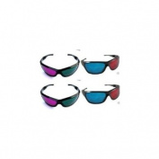 4 Pair 3D Anaglyph Glasses Blue/Red & Green/Red Full Frame