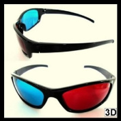 3D Plastic Glasses 2 Pair Red Blue Cyan Movies Games