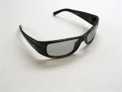 VWP 793573851123 The Child Racing Strip Black . Universal 3D Passive Glasses work with passive 3D Televisions and 94% of all Movie Theatres in the United States, Black
