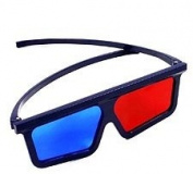 Plastic Folding Frame Anaglyph Glasses - red & MONITOR blue