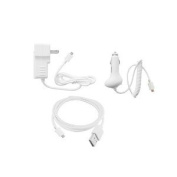iShoppingdeals - Car and Wall Charger +USB Cable for Barnes & Noble Nook