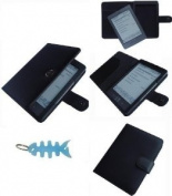 HappyZone - (Black) Portfolio Leather Case Cover For Amazon Kindle Wi-Fi, 15cm E Ink Display