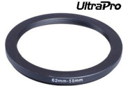 UltraPro Step-Down Adapter Ring 62mm Lens to 58mm filter Size