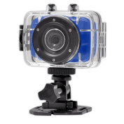 Gear-Pro High-Definition Sport Action Camera, 1080p 720p Wide-Angle Camcorder With 2.0 Touch Screen - SD Card Slot, USB Plug And Mic - All Mounting Gear Included - For Biking, Riding, Racing, Skiing And Water Sports, Etc. - BLUE