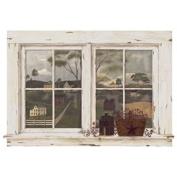 Mural Portfolio II Trompe L'oiel White Washed Window Accent Wall Sticker