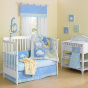 Laugh, Giggle & Smile Wish I May Quintessential Cotton quilted 10 Piece Crib Bedding Set