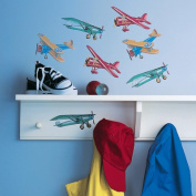 Vintage Aeroplanes Wallpaper Cutouts