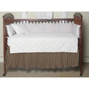 Multi Brown And Tan Plaid, Fabric Dust Ruffle Crib