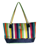 Multi Stripes Computer Tote