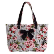 Cottage Rose Lace Pink Bow with Tote Bag