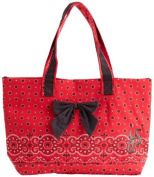 Red Bandana Bow with Tote Bag