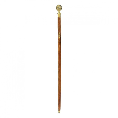 Collectible Authentic Fluted Sphere Gentleman's Walking Stick