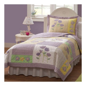 Patch of Flowers Twin Quilt with Pillow Sham