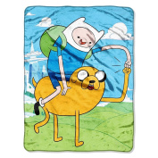 Cartoon Network, Adventure Time, Fist Pump 120cm -by-150cm Micro-Raschel Blanket by The Northwest Company