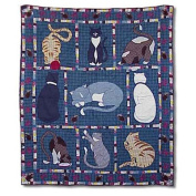 Kitty Cats Throw Quilt