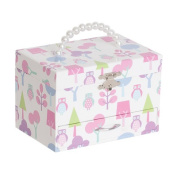 Molly Girl's Musical Ballerina Jewellery Box with Owl Pattern